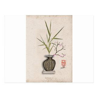 ikebana 7 durch tony fernandes postkarte