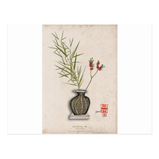ikebana 8 durch tony fernandes postkarte