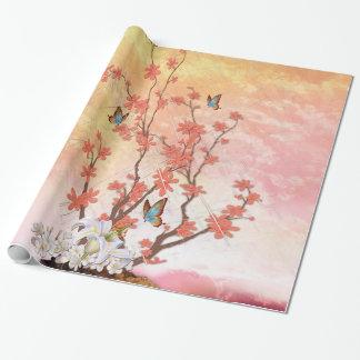 Ikebana Anzeige Geschenkpapier