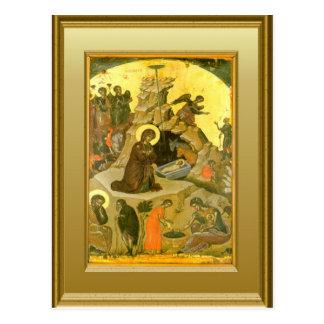 Ikon der Geburt Christi Postkarte