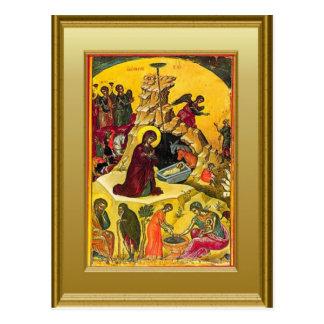Ikon der Jungfrau Mary und des Kindes Jesus Postkarte