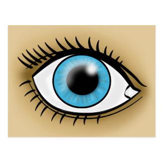 Ikone des blauen Auges Postkarte