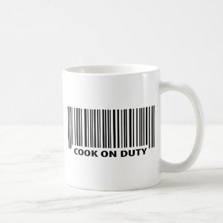 Ikone des Kochs im Dienst Kaffeetasse
