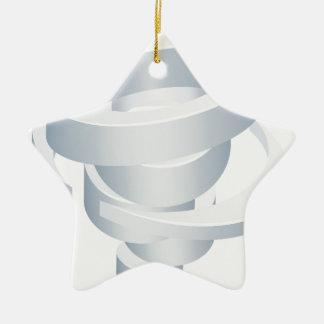 Ikone Tornado-Wirbelsturm-Hurrikantwister-3d Keramik Stern-Ornament