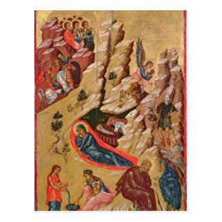 Ikone welche die Geburt Christi darstellt Postkarte