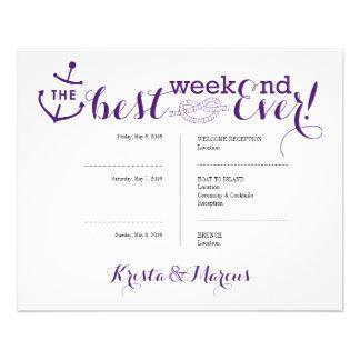 Ikonen-Hochzeits-Route - Hochzeit in Urlaubsort 11,4 X 14,2 Cm Flyer