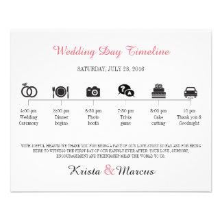 Ikonen-Hochzeits-Zeitachse-Programm 11,4 X 14,2 Cm Flyer