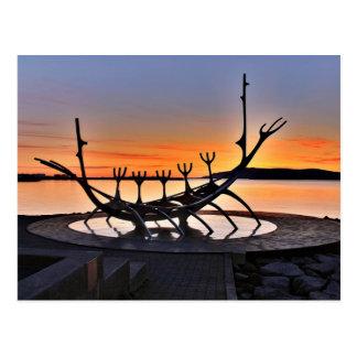 Ikonenhafte Skulptur von Reykjavík, Island Postkarten