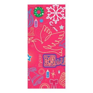 Ikonenhafte Weihnachtsgestell-Karte Werbekarte
