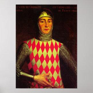Ikonenhafter König Raniero I von Monaco Poster