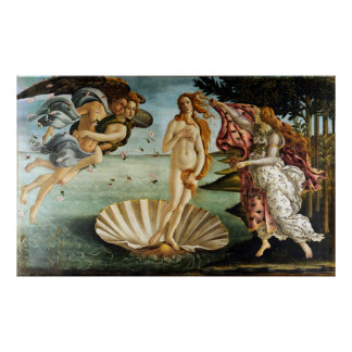 Ikonenhafter Sandro Botticelli die Geburt von Poster
