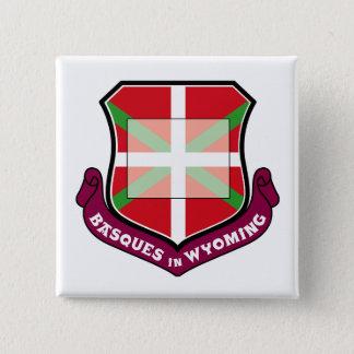Ikurrina Schild: Basken in Wyoming, Quadratischer Button 5,1 Cm