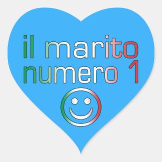 IL Marito Numero 1 - Ehemann der Nr.-1 auf Herz Sticker