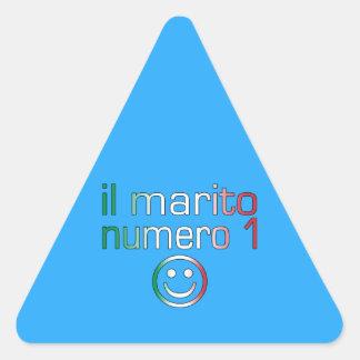 IL Marito Numero 1 - Ehemann der Nr.-1 auf Dreieckiger Aufkleber