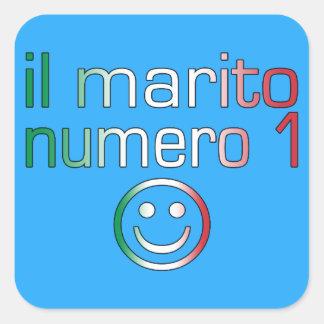 IL Marito Numero 1 - Ehemann der Nr.-1 auf Quadrat-Aufkleber