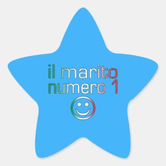 IL Marito Numero 1 - Ehemann der Nr.-1 auf Stern Aufkleber