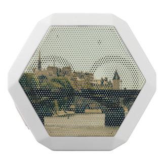 Ile De La Cite, Pont des Arts in Paris, Frankreich Weiße Bluetooth Lautsprecher