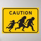 Illegale Außerirdische, die Landstraßen-Zeichen kr Poster