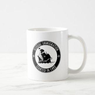 Illegale Einwanderung im Jahre 1492 begonnen Kaffeetasse