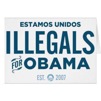 Illegals für Obama Karte