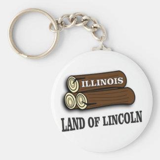 Illinois-Klotz von Lincoln Schlüsselanhänger