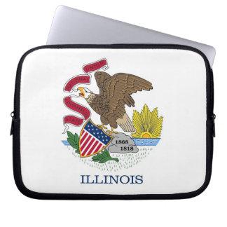 Illinois-Staats-Flaggen-Laptop-Hülse Laptop Sleeve