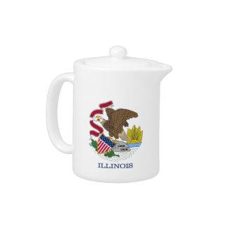 Illinois-Staats-Flaggen-Teekanne
