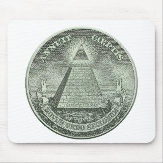 Illuminati - alles sehende Auge Mauspads