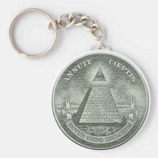 Illuminati - alles sehende Auge Standard Runder Schlüsselanhänger