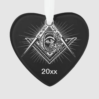 Illuminati alles sehende Augen-Freimaurer-Symbol Ornament