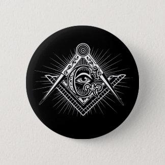 Illuminati alles sehende Augen-Freimaurer-Symbol Runder Button 5,7 Cm