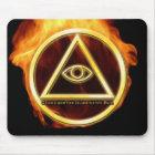 Illuminati auf Feuer Mousepad