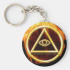 Illuminati auf Feuer Schlüsselanhänger