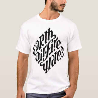 Illuminati Diamant-Schwarzes T-Shirt