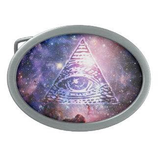 Illuminati Nebelfleck Ovale Gürtelschnallen