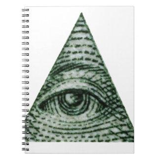 illuminati spiral notizblock