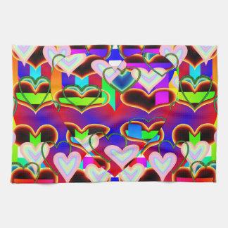 Illusion der Herzen durch Kenneth Yoncich Küchentuch