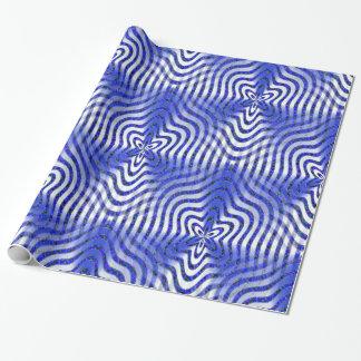 Illusionen im Blau…. Geschenkpapier