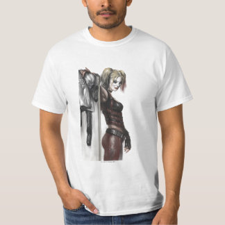 Illustration Batmans Arkham Stadt-| Harley Quinn T-Shirt