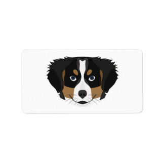 Illustration Bernese Gebirgshund Adressaufkleber