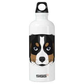 Illustration Bernese Gebirgshund Aluminiumwasserflasche