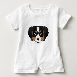 Illustration Bernese Gebirgshund Baby Strampler