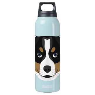 Illustration Bernese Gebirgshund Isolierte Flasche