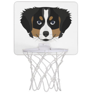 Illustration Bernese Gebirgshund Mini Basketball Netz