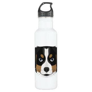 Illustration Bernese Gebirgshund Trinkflasche