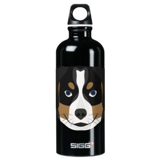 Illustration Bernese Gebirgshund Wasserflasche