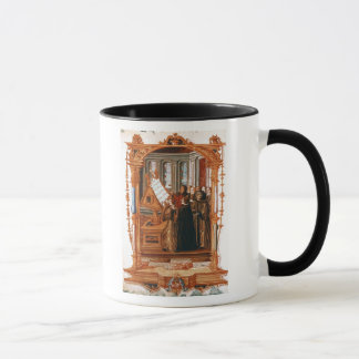 Illustration, den Chor-Gesang darstellend Tasse