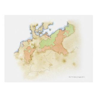 Illustration der Karte von Deutschland