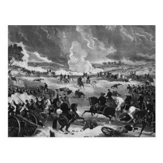 Illustration der Schlacht von Gettysburg Postkarte