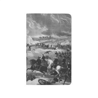 Illustration der Schlacht von Gettysburg Taschennotizbuch